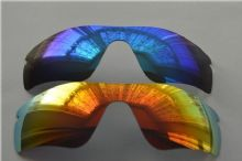 NEW POLARIZED FIRE RED/BLUE CUSTOM LENS FOR OAKLEY RADAR PATH SUNGLASSES